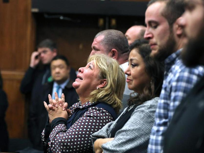 Ana Vergara, mother of Dr. Lina Bolanos, clasped her hands as the jury filed out of the courtroom.
